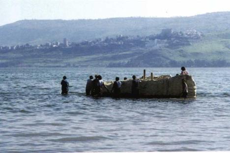 Barca-Mar-Galilea-Israel