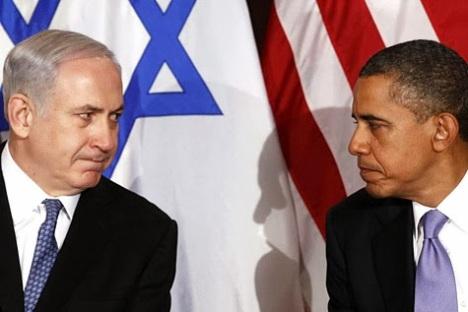 Primer Ministro israelí Benjamín Netanyahu, y el Presidente Barack Obama.